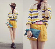 Yellow (by Shan  Shan) http://lookbook.nu/look/2049911-yellow