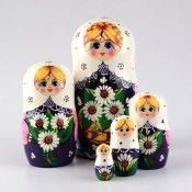 Basket of Daisies Nested Doll