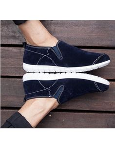 High QualityLeisure Simple Manual Suture Lazy Shoes Blue CD15042001-2.http://www.clothing-dropship.com