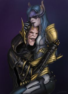 Characters from the film Marvel. The Avengers: the war of infinity, the characters of the black order of Corvus and Proxima. Corvus Glaive and Proxima Midnight Marvel Heroes, Marvel Dc, Marvel Comics, Superhero Makeup, Proxima Midnight, Black Order, Gi Joe, Comic Books Art, Samurai