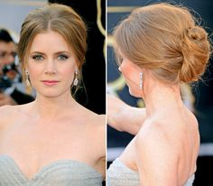 Amy Adams Visit our 'On the Red Carpet' board every day through to see our favorite Oscars looks of all time! Oscar Hairstyles, Trending Hairstyles, Messy Hairstyles, Pretty Hairstyles, Red Carpet Hairstyles, Natural Hair Updo, Natural Hair Styles, Long Hair Styles, Soft Updo