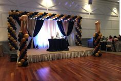 A curtain backdrop with balloon decoration set up we did at a recent event. Balloon Arrangements, Balloon Decorations, Balloon Delivery, Event Decor, Backdrops, Balloons, Curtains, Home Decor, Globes