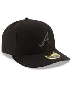 New Era Atlanta Braves Triple Black Low Profile 59FIFTY Fitted Cap - Black  7 5  5881d24bbb6