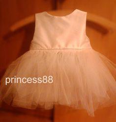 sukienka, ecru, ekri, biala, tiulowa, slub,chrzest