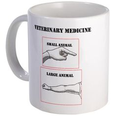 Veterinary Medicine Mug-YES, it IS EXACTLY what you are thinking!!!  And don't stand directly behind the cattle after!  You'll GET SPRAYED!!!  I KNOW!!!!! Hahaha!