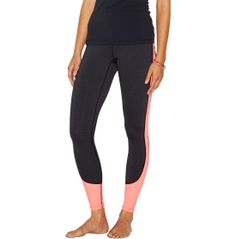 Bring typical studio-wear to a new level with the lucy® Women's Breathe And Believe Leggings. Constructed with a gusset inset, these body hugging bottoms let you move in total freedom and comfort no matter how hard you work. Color-blocked details add athletic flair to any outfit, while flatlock seams ensure a chafe-free experience. Ultra-versatile and flattering, the lucy® Breathe And Believe Leggings are you new go-to bottoms.