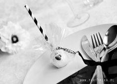cake pops, wesele black&white - Partymika