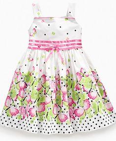 Bonnie Jean Girls Dress, Little Girls Butterfly and Polka Dot Sundress - Kids Dresses - Macy's