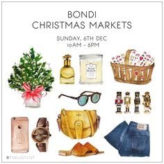 BONDI CHRISTMAS MARKETS || This Sunday 10am - 6pm.  Come and pick up some Christmas deals and all your wrapping essentials!  #thelustlist