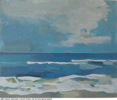 karen smidth » Blog Archive » water and sky small paintings – sold