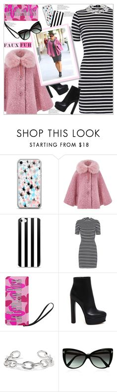 """Faux Fur Capelet"" by atelier-briella ❤ liked on Polyvore featuring Monsoon, T By Alexander Wang, Casadei, Jennifer Fisher and Tom Ford"