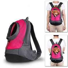 Yinxinda Pet Dog Cat Backpack Travel Carrier Front Bag with Dual Shoulder Strap * Continue to the product at the image link.(This is an Amazon affiliate link and I receive a commission for the sales)