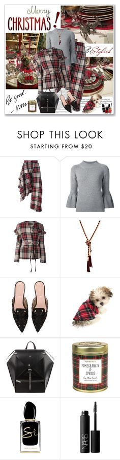 """Be Good!"" by likepolyfashion ❤ liked on Polyvore featuring Area Di Barbara Bologna, Carolina Herrera, GUESS, Alberta Ferretti, Paddywax, Giorgio Armani, NARS Cosmetics, Chanel, fashionset and treatyoself"