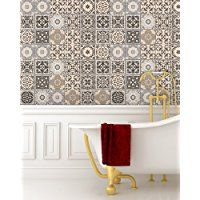 Tile Stickers 24 PC Set Authentic Traditional Talavera Tiles Stickersl Bathroom & Kitchen Tile Decals Easy to Apply Just Peel & Stick Home Decor 6x6 Inch (Kitchen Backsplashes)