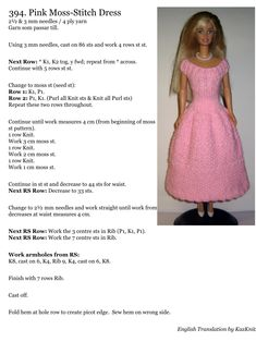 Crochet Barbie Patterns, Knitted Doll Patterns, Crochet Doll Dress, Knitted Dolls, Barbie Clothes Patterns, Crochet Barbie Clothes, Doll Clothes Barbie, Barbie Doll, Barbie Gowns