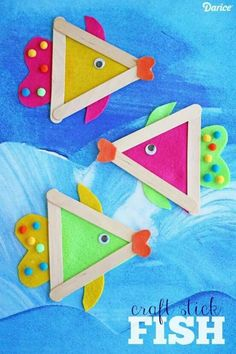 Popsicle stick fish craft for kids. Summer craft- Popsicle stick fish craft for kids. Summer craft Popsicle stick fish craft for kids. Glue Crafts, Craft Stick Crafts, Felt Crafts, Craft Sticks, Popsicle Sticks, Craft Ideas, Popsicle Stick Crafts For Kids, Diy Ideas, Craft Stick Projects