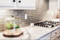 Cute cloche and wood slice display -  Birmingham+Parade+of+Homes+2016-2 -