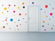 50 Polka Dot-Wandtattoo von AriseDecals auf Etsy