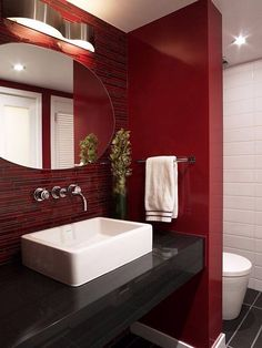 check out 21 red bathroom design ideas to try its really tough to work with this color but with some creativity and inspiration you can go with it - Red Bathroom 2015