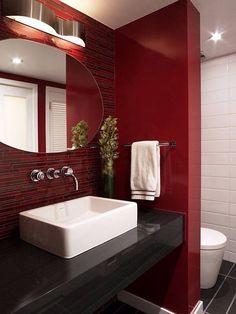 *Rojo Y Negro. Black BathroomsBathroom RedBathroom ...
