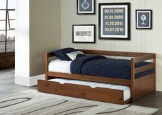 Hillsdale Caspian Daybed With Trundle, Walnut (Trundle Bed/Daybed), Tan, Hillsdale Kids and Teen Furniture, Daybed, Home, Hillsdale Furniture, Twin Daybed With Trundle, Kid Beds, Comfortable Couch, Bed, Furniture Design