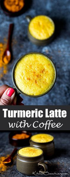 Turmeric Latte with Coffee - delicately spiced and comforting but with a little caffeine kick!