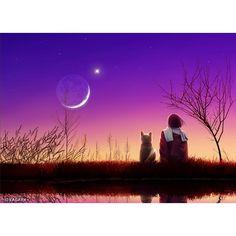I love this design only because there's a cat!   Portrait: Luna Garden  Collection: Tranquil Night Of Stars Artist: Kagaya @ kagayastudio.com #lunagarden #tranquilnightofstars #digitalart #digitalartdesigner #digitalartist #japaneseart #japaneseartist #beautifulsunset #sunset #tranquility #tranquilnight #serenity #cats #meow #art #artwork #artist #artoftheday #bestartever #artwork #artists #artworkoftheday #artworld #worldofart #artistsworldwide