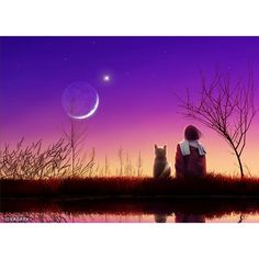 I love this design only because there's a cat!   Portrait: Luna Garden  Collection: Tranquil Night Of Stars Artist: Kagaya @ kagayastudio.com #lunagarden #tranquilnightofstars #digitalart #digitalartdesigner #digitalartist #japaneseart #japaneseartist #beautifulsunset #sunset #tranquility #tranquilnight #serenity #cats #meow #art #artwork #artist #artoftheday #bestartever #artwork #artists #artworkoftheday #artworld #worldofart #artistsworldwide