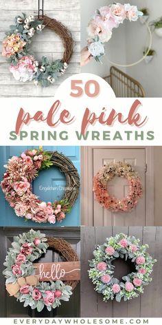 Diy Spring Wreath, Pink Wreath, Easter Wreaths Diy, Spring Wreaths For Front Door Diy, Summer Front Porches, Burlap Wreath, Floral Wreath, Porch Decorating, Decorating Ideas