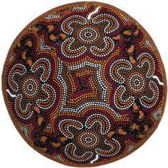 Jewish kippah / yarmulke. Australian Aboriginal art.