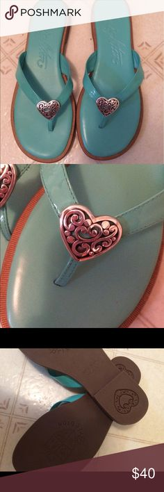 NWOT Brighton Sandals Beautiful robins egg blue sandals. Brand new, only tried on. No box. Size 6.5. Brighton Shoes Sandals
