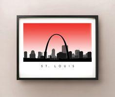 St. Louis Skyline by CartoCreative on Etsy, $20.00#EtsyCIJ