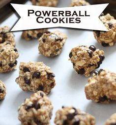 powerball cookies recipe - so tasty. I might cut back on the honey slightly next time. They were a smidgen sweet for my taste.