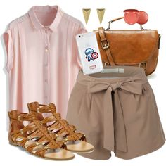 Peggy Carter Inspired Summer Road Trip Outfit by lauloxx on Polyvore featuring Chicwish, Steve Madden, Alexis Bittar, Topshop, Stila, Summer, casual, travel and peggycarter