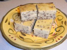 """Blondies"" (recipe by Maria Emmerich)    5 oz cream cheese, softened (or coconut cream if dairy allergy)    3/4 cup coconut oil or organic butter, softened    1 TBS vanilla extract    4 large eggs    1/2 cup coconut flour    3/4 cup erythritol (or Truvia)    1 tsp stevia glycerite (omit if using Truvia)    1/2 tsp Celtic sea salt    1/4 tsp aluminum free baking powder    2/3 cup unsweetened almond milk    1/2 cup chopped pecans        Preheat oven to 350 degrees.  Brush both sides of an 8""…"