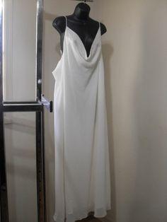 Milano Ivory White Wedding Formal Gown Size 7XL 26 Style 750 Plus Size Dress