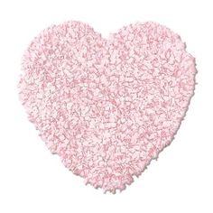 Shaggy heart rug. #pink #nursery #rug