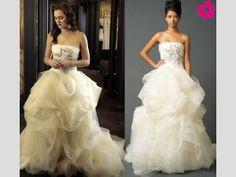 Blair con el vestido de novia de la diseñadora Vera Wang