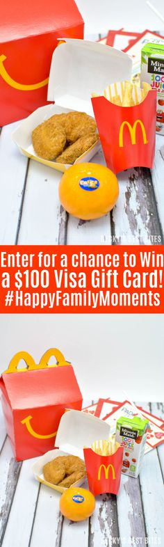 Learn about the healthier options, including Cuties, in Happy Meals at @mcdonalds! Then share your #HappyFamilyMoments for a chance to win a $100 Visa gift card! #sk #ad