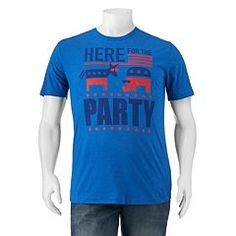 "Big & Tall ""Here For The Party"" Political Tee"