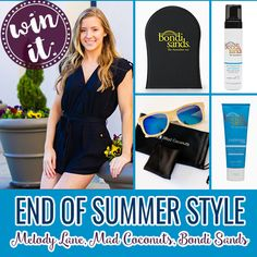 End of Summer Package: Melody Lane, Mad Coconuts, and Bondi Sands. Ends 8/25. #Sweepstakes