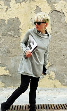 Hey, I found this really awesome Etsy listing at https://www.etsy.com/listing/125476828/tunic-sweatshirt-womens-clothinglong
