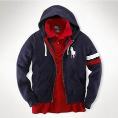 a63054e143d Ralph Lauren Polo Navy Hoodie Very slight fading on hood. No stains or  tears Polo by Ralph Lauren Sweaters