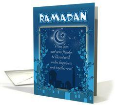 Ramadan Card Blue Card by Moonlake Designs
