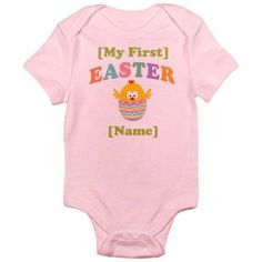 CafePress Personalized Baby's 1st Easter Infant Bodysuit, Infant Girl's, Size: 18 - 24 Months, Pink