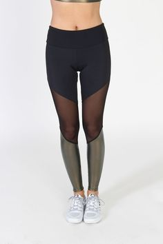 Bright, bold and super fun! The Track Legging is a color blocked legging with slimming lines and striking colors.