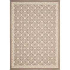 Shop Safavieh Courtyard Rectangular Cream Transitional Indoor/Outdoor Woven Area Rug (Common: 8-ft x 10-ft; Actual: 8-ft x 11.16-ft) at Lowes.com