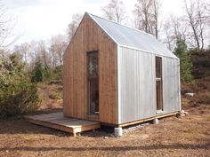 Tiny Cabin in Scottish Countryside Shed Design, Small House Design, Tiny House Cabin, Cabin Homes, Bothy, Small Buildings, Garden Studio, Prefab, Backyard
