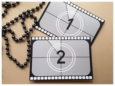 Hollywood-Film Thema Hochzeit Tischnummern Movie von PaperColada
