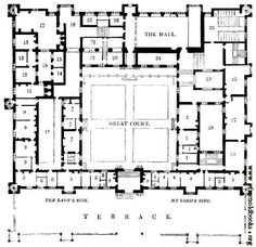 Plan of Buckhurst House, Sussex